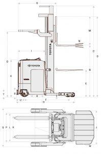 Reach Truck Diagram
